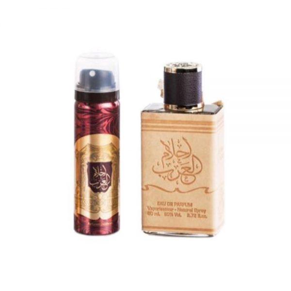(PLU00048) Ard Al Zaafaran, Set Ahlam Al Arab - Apă de Parfum 80ml + Deodorant Spray 50ml