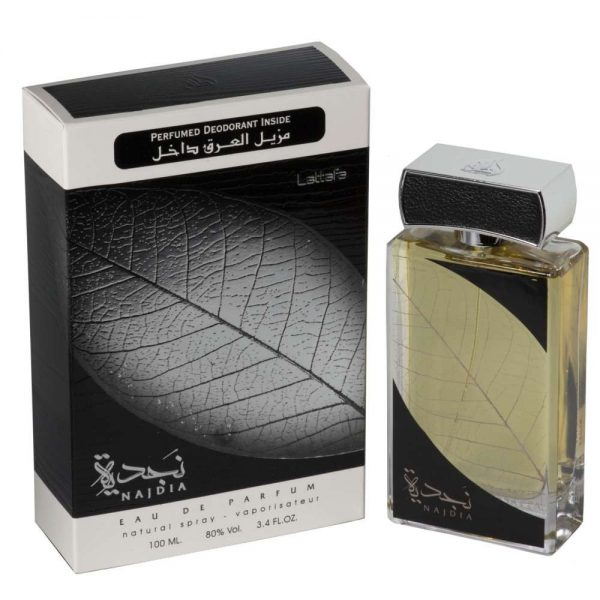 (PLU00115) Lattafa, Set Najdia - Apă de Parfum 100ml + Deodorant Spray 50ml