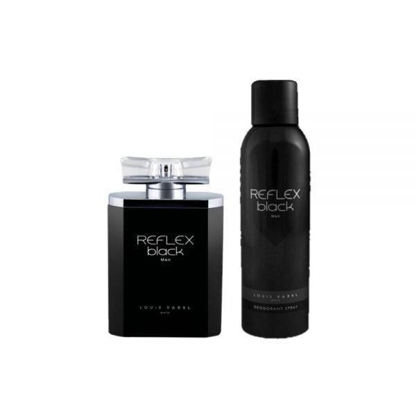 (PLU00562) Louis Varel, Set Reflex Black Men - Apă de Parfum 100ml + Deodorant Spray 200ml