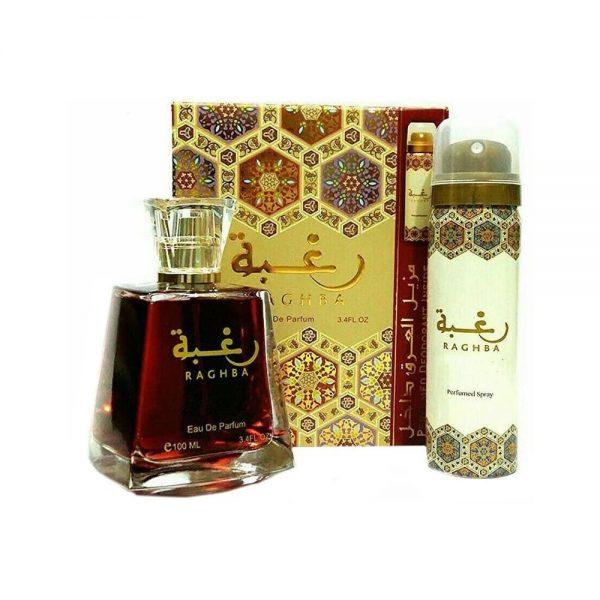 (PLU00016) Lattafa, Set Raghba - Eau de Parfum 100ml + Perfumed Deodorant