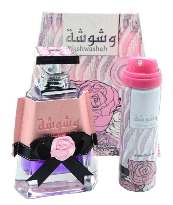 (PLU00542) Lattafa, Set Washwashah - Apă de Parfum 100ml + Deodorant Spray 70ml