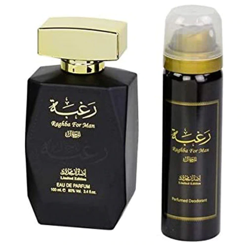 Lattafa, Set Raghba for Man - Limited Edition - Eau de Parfum 100ml + Perfumed Deodorant