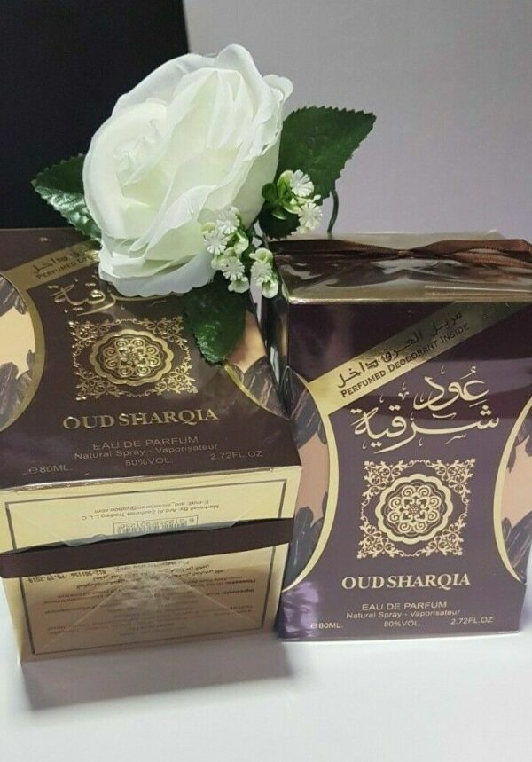 (PLU00241) Ard Al Zaafaran, Set Oud Sharqia - Apă de Parfum 80ml + Deodorant Spray 50ml